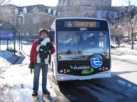 Electric mini-bus, Quebec.