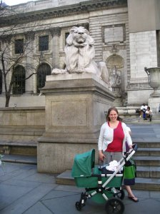 In front of the New York Public Library.