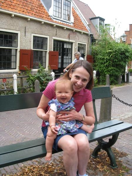 Talia and Oma in Wassenaar.