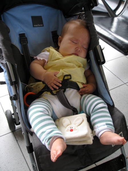 After so much excitement, poor Talia ended her week fast asleep at the airport ... to be continued.